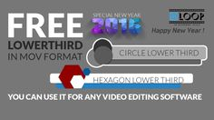 Free Circle & Hexagon Lower Third Templates in mov Format