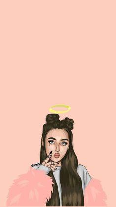 Cute Girl Wallpaper, Tumblr Wallpaper, Cute Wallpaper Backgrounds, Screen Wallpaper, Cute Girl Drawing, Cartoon Girl Drawing, Girl Cartoon, Cartoon Wallpaper Iphone, Cellphone Wallpaper