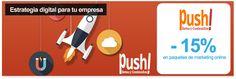Gestión de la estrategia digital de tu empresa con Push! - 15% de descuento en los paquetes de marketing online