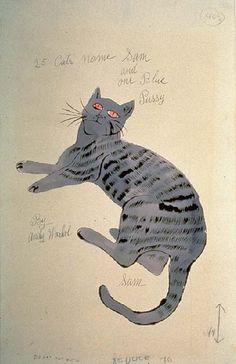 andy warhol christmas cats holiday portfolio