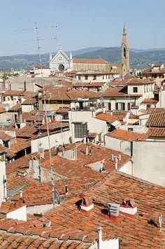 View from the terrazza di Saturno Palazzo Vecchio Florence
