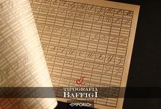 Un quaderno per imparare a scrivere.