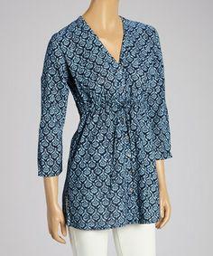 Loving this South Beach Blue Sayulita V-Neck Tunic on #zulily! #zulilyfinds