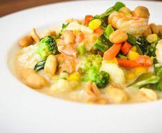 Rezept Thai-Curry mit Gemüse, Garnelen und Reis - Scharf! von Gatita82 - Rezept der Kategorie Hauptgerichte mit Gemüse