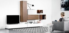Design your own bookcase or wall system with BoConcept storage concept