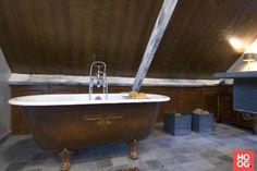 Landelijke dubbele wastafel landelijke en klassieke badkamer