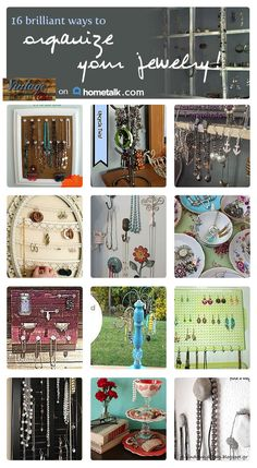 Keep your jewelry organized with these great ideas!