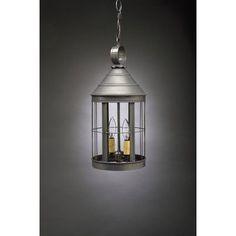 Northeast Lantern Heal 2 Light Outdoor Hanging Lantern Finish: Antique Brass, Shade Type: Clear