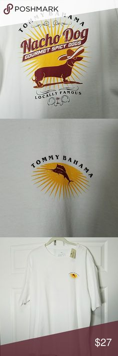 NWT MEN'S Tommy Bahama graphic t-shirt NEW Mens Tommy Bahama Relax t-shirt size L. Nacho dog graphic on back, Tommy symbol on front. Tommy Bahama Shirts Tees - Short Sleeve