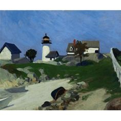 View Squam light by Edward Hopper on artnet. Browse upcoming and past auction lots by Edward Hopper. American Realism, American Artists, Landscape Art, Landscape Paintings, Top Paintings, Edward Hopper Paintings, Ashcan School, Guache, Fantasy