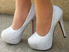 CRYSTAL HIGH HEEL PLATFORM SHOES