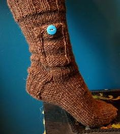 Knit Pocket Socks, because who doesn't need a pocket in their sock?