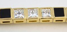 bernard k passman jewelry | BERNARD K PASSMAN 18k YG BLACK CORAL DIA BRACELET - EliteAuction.com