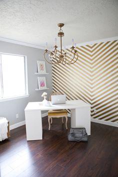 Décorer vos murs avec des motifs chevrons