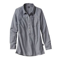 ● PATAGONIA ● Organic cotton tunic shirt, fair labor practices, environmentally-friendly company donates 1% of sales to grassroot activists