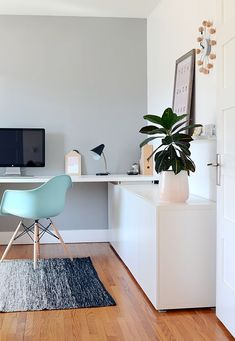 Trendy Home Office Design Modern Eames Chairs Modern Office Design, Office Interior Design, Home Office Decor, Office Interiors, Home Decor, Design Offices, Modern Offices, Contemporary Office, Office Designs