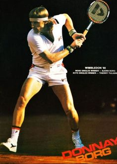 Borgs famous racket, the ultra heavy Borg Pro. Almost as difficult to handle on a tennis court as a baseball bat.