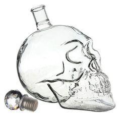 Bouteille crane de crystal Vodka verre Skullhead Tete Mort cristal verrie 500ml: Amazon.fr: Cuisine & Maison