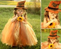 scarecrow princess ~ halloween costume ~ photo inspiration