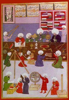 Medieval Arabic classroom Illuminated Manuscript