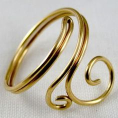 Easy Folded Wire Ring Tutorial - Use this to decorate candles, . - Easy Folded Wire Ring Tutorial – Use this to decorate candles, …, - Diy Jewelry Rings, Diy Jewelry Making, Handmade Jewelry, Jewlery, Fine Jewelry, Diy Jewelry Tutorials, Jewelry Kits, Hippie Jewelry, Cheap Jewelry
