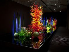 Chihuly:  Mille Fiori, 2008  Museum of Fine Arts, Boston MA  installed 2011