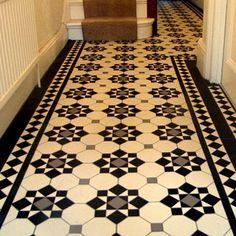 London Mosaic - Edwardian Period Reproduction Ceramic Tiled Hallway