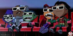 #Teen #Titans #Go. (Teen Titans TV Cartoon Show) On: CNN. (THE * 5 * STÅR * ÅWARD * OF: * AW YEAH, IT'S MAJOR ÅWESOMENESS!!!™) ÅÅÅ+ Cartoon Tv, Cartoon Shows, Teen Titans Go, Cartoon Network, Childhood, Family Guy, Fan Art, Anime, Fictional Characters