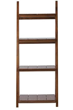 "Nolan 4 shelf Folding Bookcase, 60""Hx24""Wx16""D, WARM BROWN"