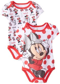 Amazon.com: Disney Baby Baby-Girls Newborn Minnie Mouse 2 Pack Bodysuit: Clothing