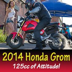 The new 2014 Honda Grom. 125cc's of Attitude! Coming to DHY August of 2014
