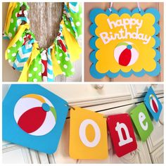 "Decorating With Beach Balls Beach Ball  Birthday ""beach Ball First Birthday""  Beach Ball"