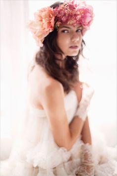Pink and White Ethereal Wedding Inspiration Wedding Braids, Wedding Veils, Wedding Dresses, Flower Girl Halo, Ethereal Wedding, Wedding Hair Inspiration, Floral Headpiece, Bridesmaid Flowers, Wedding Hair And Makeup