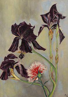 Irises and Dianthus Jean Cocteau (1889-1963)