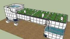 Large preview of 3D Model of Tristrin's First IBC System #AquaponicsandHydroponics