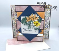 Creative Arts And Crafts, Creative Cards, Fun Fold Cards, Stampin Up Cards, I Card, Card Making, Greeting Cards, Tower, Hands