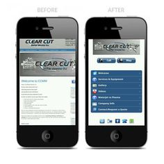 Clear Cut Metal Works Inc. Mobile optimized website.  View http://www.gomobilemediamarketing.com/services/mobile-websites/ for more mobile site samples.