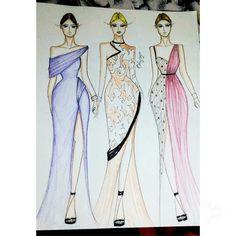 Fashion illustration Dress Design Sketches, Fashion Design Sketchbook, Fashion Design Drawings, Fashion Sketches, Fashion Illustration Template, Fashion Illustration Dresses, Dress Illustration, Fashion Drawing Dresses, Arte Sketchbook