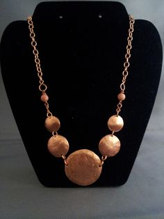 www.etsy.com/shop/LGBSTYLES Hammered Copper Circles Necklace