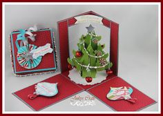 Jinky's Crafts & Designs: CHRISTMAS WINDOW GIFT BOX - Day 2