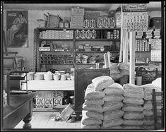 General store interior, Moundville, Alabama, 1936