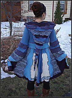 Custom Made, Short  COZY ROSE Upcycled sweater Coat, Katwise inspired, Elf Coat, Pixie Coat door rosecanino op Etsy https://www.etsy.com/nl/listing/183656192/custom-made-short-cozy-rose-upcycled