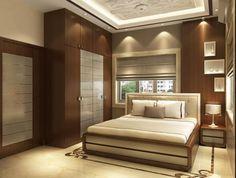 Bedroom Interior Design Modern bedroom with wooden designed wall and wardrobe Bedroom Cupboard Designs, Wardrobe Design Bedroom, Master Bedroom Interior, Small Bedroom Designs, Room Design Bedroom, Bedroom Furniture Design, Modern Bedroom Design, Latest Bedroom Design, Modern Wardrobe