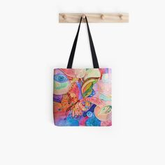 'Abstract Butterfly' Tote Bag by Adele Buys Cotton Tote Bags, Reusable Tote Bags, Iphone Wallet, Iphone Cases, Get Free Stuff, Stuff To Buy, Zipper Pouch, Sell Your Art, Shopping Bag