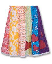 Heart of Mine Kid's Patchwork Skirt   by Soul Flower