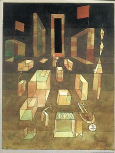 1929, Paul Klee: Nichtkomponiertes im Raum (Uncomposed in Space). As seen on the cover of the Blackwell translation of Henri Lefebvre's The Production of Space, 1991.
