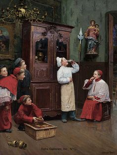 """Painting of the Day (hitting the SOLD archives): Paul Chocarne Moreau's """"Chacun prend son plaisir ou il le trouve"""" - http://rehs.com/blog/2014/12/painting-of-the-day-hitting-the-sold-archives-paul-chocarne-moreaus-chacun-prend-son-plaisir-ou-il-le-trouve/"""