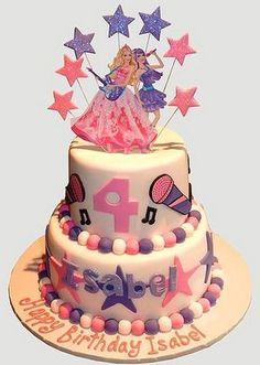Barbie Popstar Birthday Cake