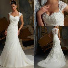Robe de mariage Princesse High Quality 2016 Wedding Dresses Lace Mermaid Bridal Gown Chiffon Pleated Vestidos novia