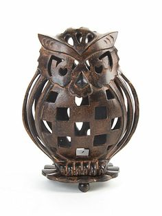 MacKenzie-Childs - Owl Luminary Pinned by www.myowlbarn.com